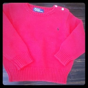 Other - Ralph Lauren sweater cotton red 12mo nwt
